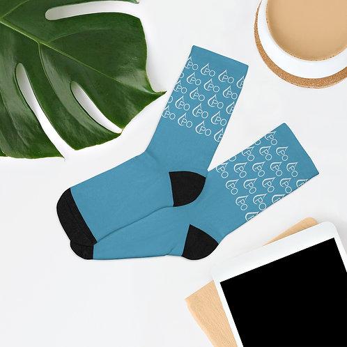 PO Logo Repeating Pattern Socks