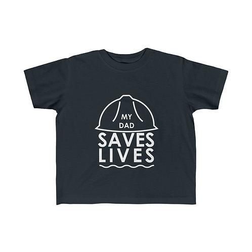 """My Dad Saves Lives"" Kid's Fine Jersey Tee"