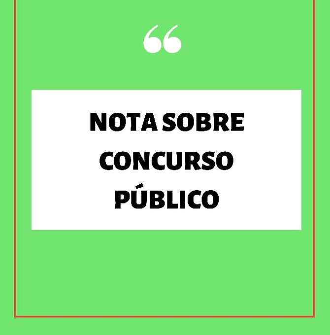 NOTA SOBRE O CONCURSO PÚBLICO NÚMERO 02/2020 RIO GRANDE, RS