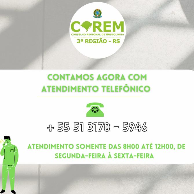 CONTAMOS AGORA COM ATENDIMENTO TELEFÔNICO