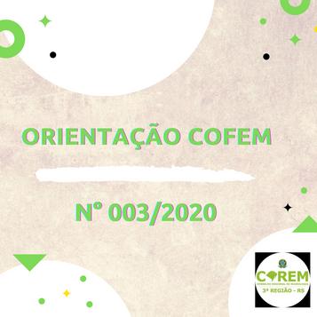 ORIENTAÇÃO COFEM Nº 003/2020