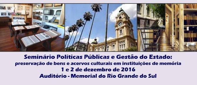 Seminário Políticas Públicas e Gestão do Estado