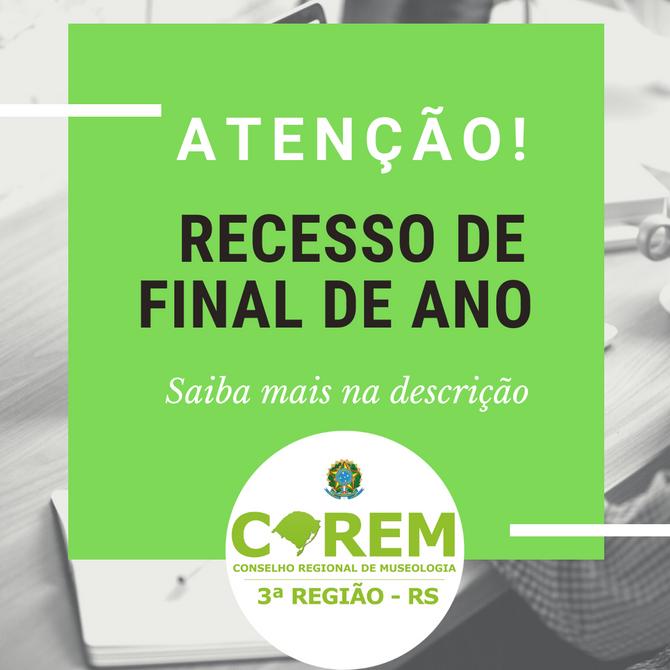 RECESSO DE FINAL DE ANO