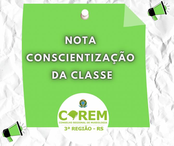 [IMPORTANTE] NOTA CONSCIENTIZAÇÃO DA CLASSE