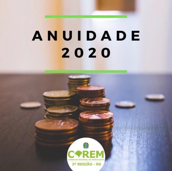 PRORROGAÇÃO PAGAMENTO ANUIDADE 2020