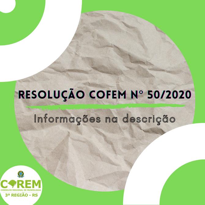 RESOLUÇÃO COFEM Nº 50/2020