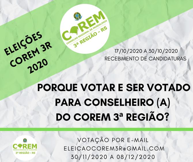 PORQUE VOTAR E SER VOTADO PARA CONSELHEIRO (A) NO SISTEMA COREM?