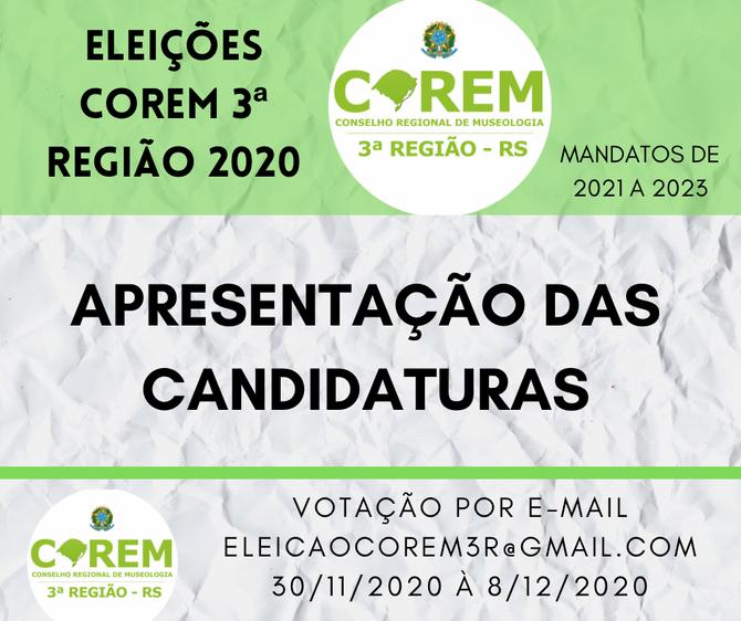 ELEIÇÕES 2020 | APRESENTAÇÃO DAS CANDIDATURAS