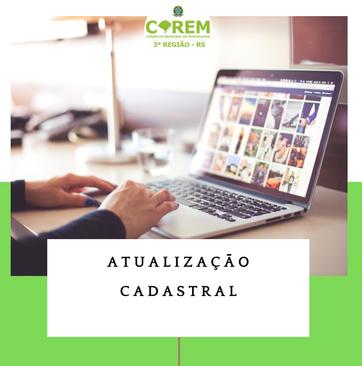 ATUALIZAÇÃO CADASTRAL COREM 3R