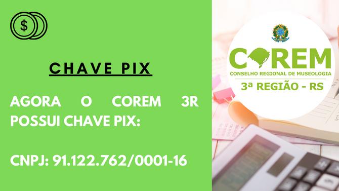 COREM 3R AGORA POSSUI CHAVE PIX