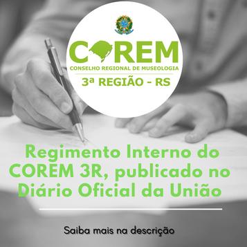 REGIMENTO INTERNO PUBLICADO NO DIÁRIO OFICIAL DA UNIÃO