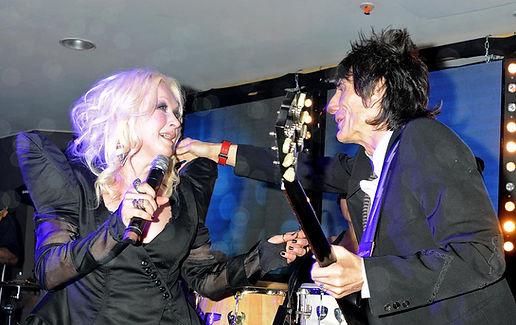 Cyndi Lauper and Ronnie wood.JPG