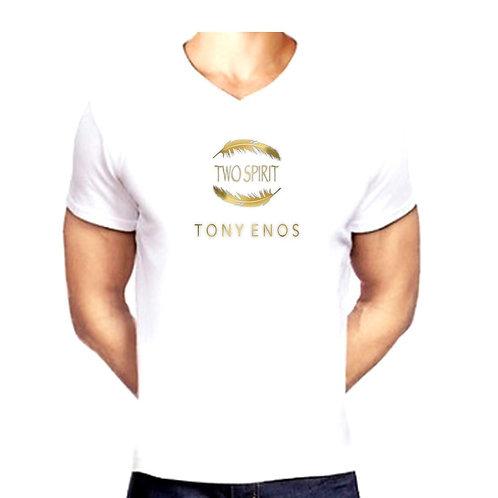 "TONY ENOS V-NECK ""TWO SPIRIT"" TSHIRT"