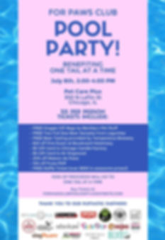For Paws Club 1st Annual Pool Party!