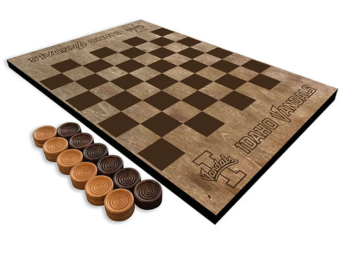 Idaho Vandals Wooden Checkerboard
