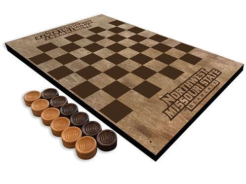 Northwest Missouri State Wooden Checkerboard