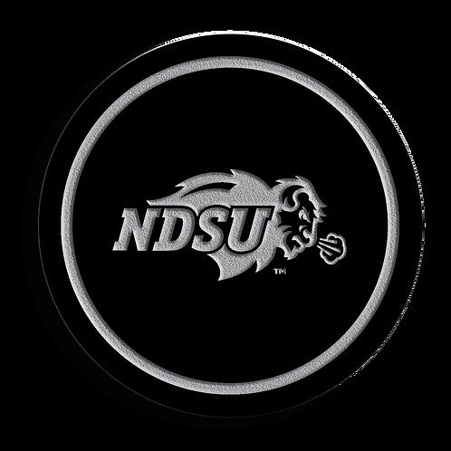 NDSU Bison Black Acrylic Coaster Set
