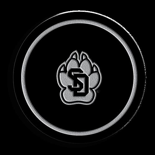South Dakota Coyotes Black Acrylic Coaster Set
