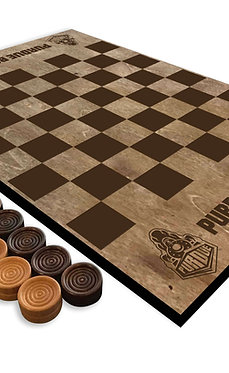 Purdue Boilermakers Wooden Checkerboard