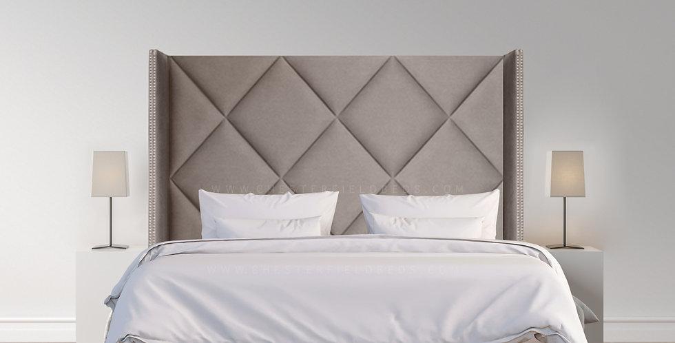 Wingback Diamond Platform Bed Frame