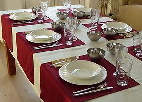 Tischdecke mit Tischläufer