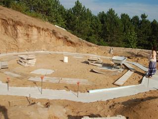 Erecting the Yurt Foundation/Basement!