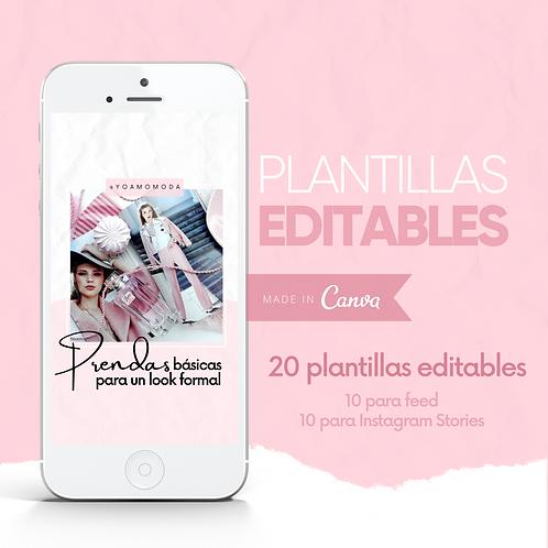 Edición Rosa: Plantillas Editables en Canva