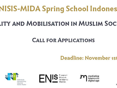 CALL FOR APPLICATIONS - SPRING SCHOOL - Mobility and Mobilisation in Muslim Societies