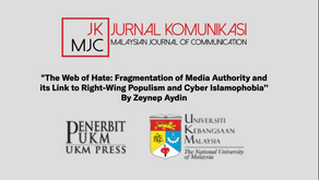 The Web of Hate - A NEW ARTICLE by Zeynep Aydin