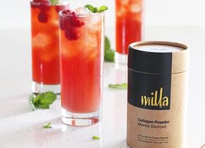 raspberry & mint collagen iced tea