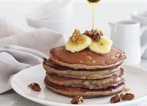 cinnamon & banana pancakes