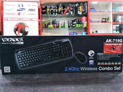 Combo mouse y teclado inalámbrico Sate AK-719G