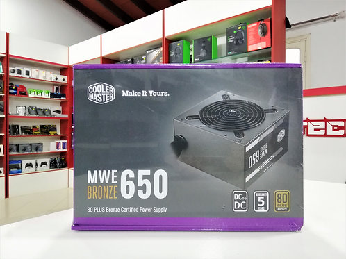 Fuente 650W 80+ bronce Cooler Master MWE