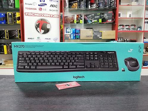 Teclado y mouse inalámbrico Logitech MK270