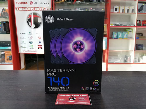 Cooler Master Masterfan Pro 140 RGB Pack de 3