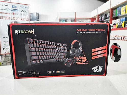 Combo teclado + mouse + mousepad + auricular Redragon K552-BB-1