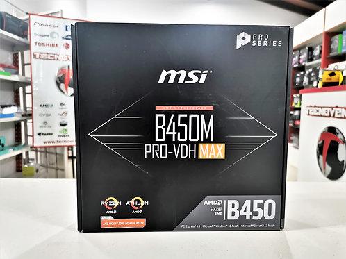 Placa madre MSI B450M PRO-VDH MAX
