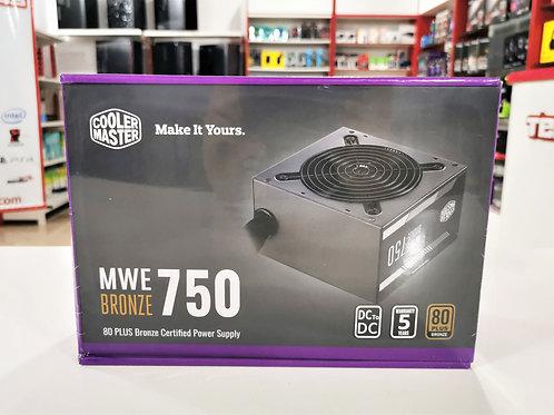 Fuente 750W  80+ Bronce Cooler Master