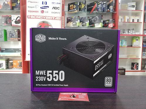 Fuente 550W 80+ White Cooler Master