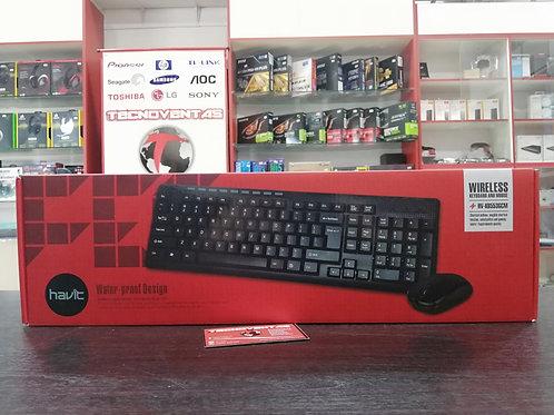 Combo teclado y mouse inalámbrico Havit
