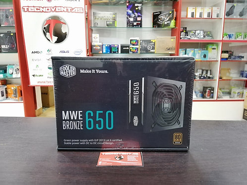 Fuente 650W 80 Plus Bronce Cooler Master