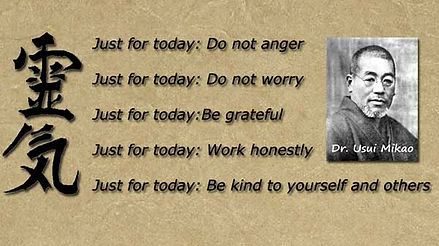 The 5 principles of Reiki