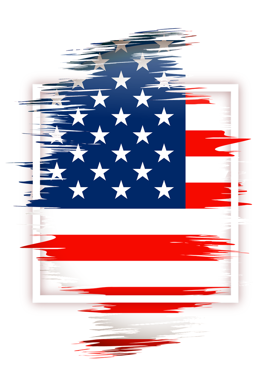 United States flag, abstract