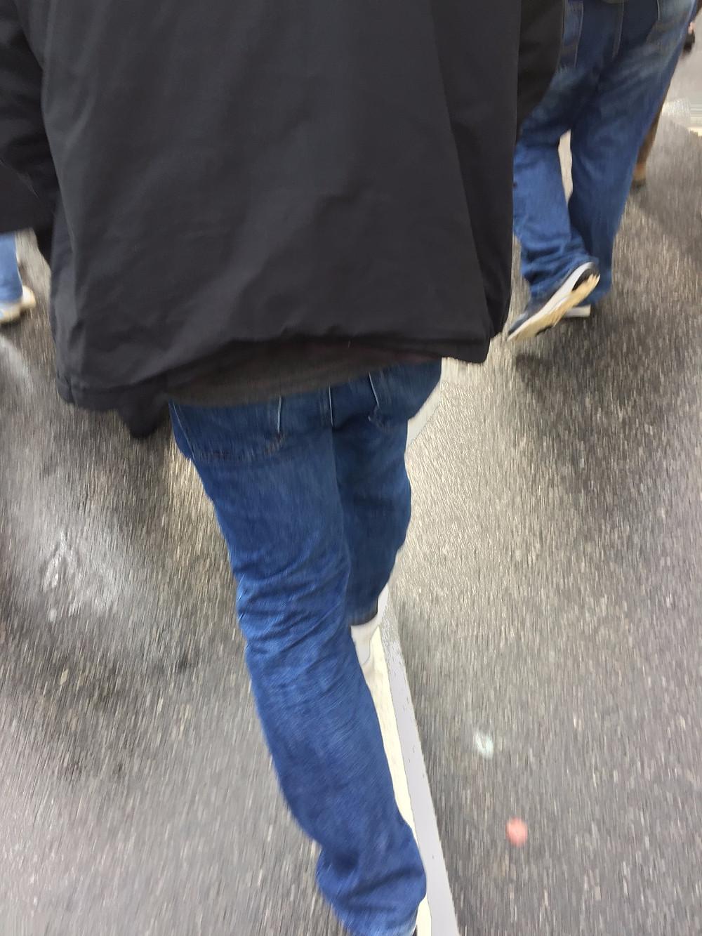 protesters' legs, Philadelphia, 1/26/17