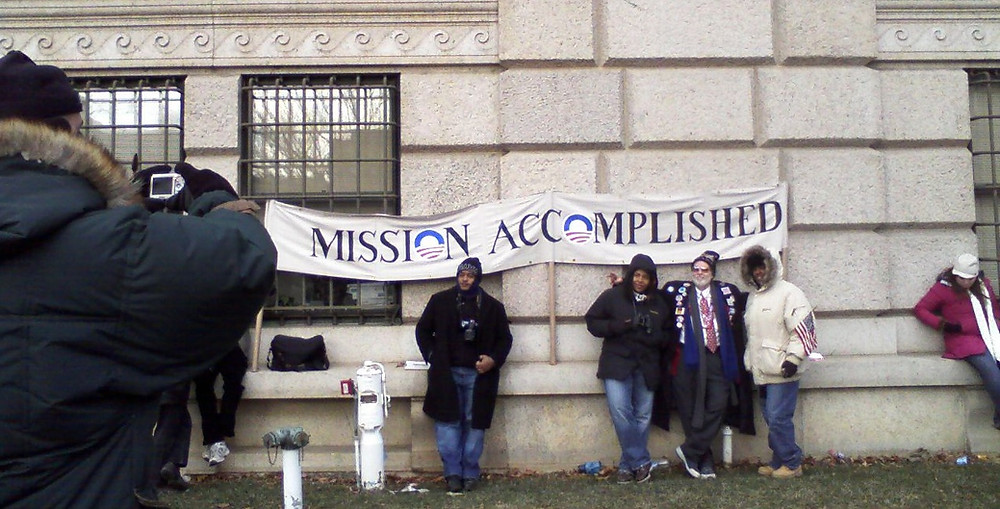 """Mission Accomplished"" - After Obama inauguration, 1/20/2009, Freer Museum, Washington, DC"