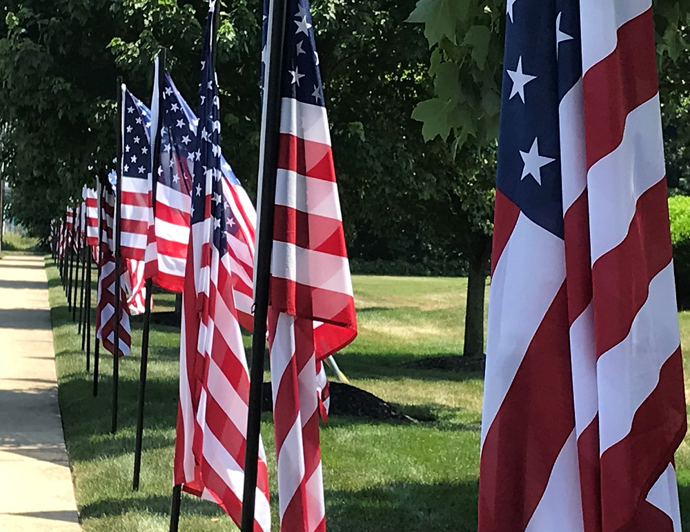 American flags on the White Horse Pike, Berlin, NJ