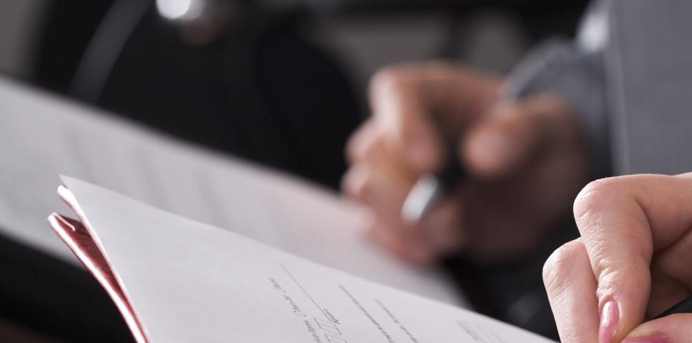 Firma de entrega de documento de Despido Objetivo