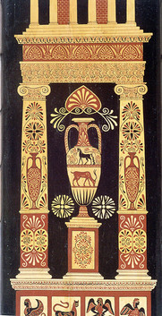 Роспись дверцы шкафа, фрагмент