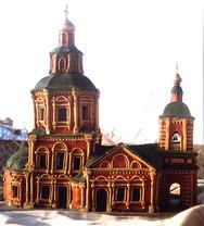 храм Троицы в Хохловке из пластилина
