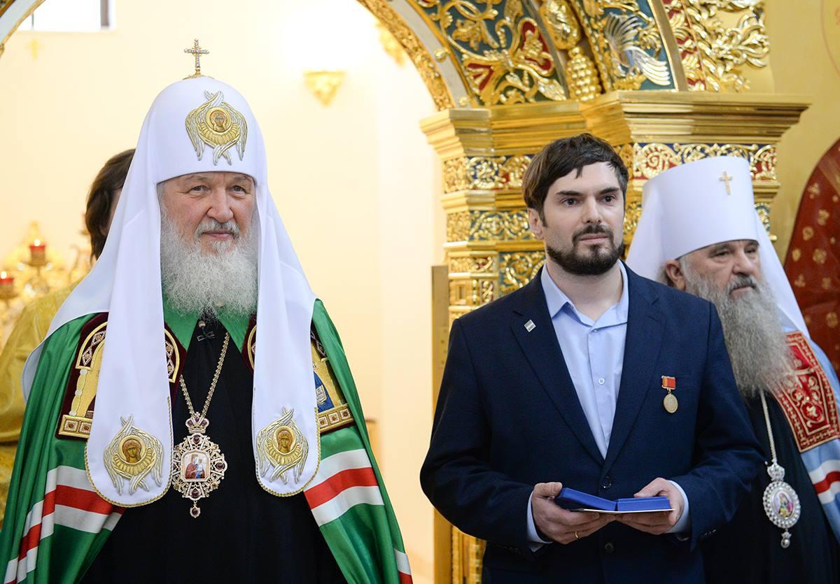 Святейший Патриарх Кирилл и архитектор Иван Канаев